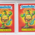 Mixed-Up Michelangelo Lot of (2) Garbage Pail Kids Series 2 Trading Card #90a