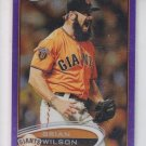 Brian Wilson Purple Retail Refractor 2012 Topps Chrome #98 Giants Dodgers