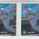 Greg Pirkhl RC Rated Rookie Card Lot of (2) 1993 Donruss #589 Mariners