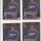 Dan Smith Rookie Card Lot of (4) 1993 Fleer Ultra #637 Rangers