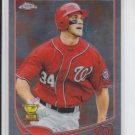 Bryce Harper 2nd Year Baseball Card 2013 Topps Chrome #220 Nationals
