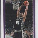 Tim Duncan Basketball Card 2000-01 Topps #60 Spurs