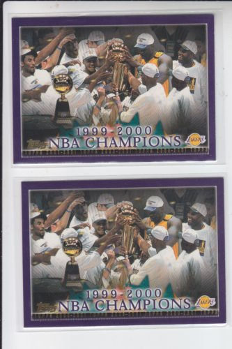 Lakers Championship 1999-2000 Basketball Card Lot (2) 2000-01 Topps #155