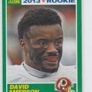 David Amerson Rookie Card 2013 Score #348 Redskins