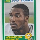 Jonathan Franklin Rookie Card 2013 Score #377 Packers