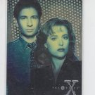 Agents Mulder & Scully Chase Card 1995 Topps X-Files Chromium #X1 *ED