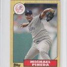 Michael Pineda 1987 Topps Mini Insert 2012 Topps #TM85 Yankees