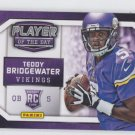 Tedy Bridgewater Player of the Day Promo Insert 2014 Panini #RC12 Vikings