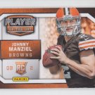 Johnny Manziel Player of the Day Promo Insert 2014 Panini #RC1 Browns