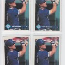 Tom Quinlan Rated Rookie Card Lot of (4) 1993 Donruss Series 1 #161 Blue Jays
