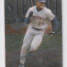 Shannon Stewart Baseball Trading Card 1999 Fleer Metal Universe #113 Blue Jays