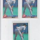 Steve Wilson Rated Rookie Card Lot of (3) 1993 Donruss Series 1 #34 Dodgers