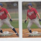 Chad Moeller RC SP Lot of (2) 1999 Topps Stadium Club #141 Twins
