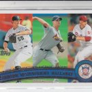 Josh Johnson Adam Wainwright Roy Halladay 2011 Topps League Leaders #82