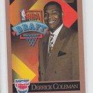 Derrick Coleman Rookie Card 1990-91 Skybox #362 Nets