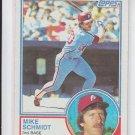Mike Schmidt Baseball Card 1983 Topps #300 Phillies HOF
