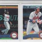 Jason Heyward 2nd Year Card Lot (2) 2011Topps #510 & #650 Braves