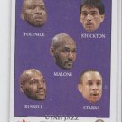 Polynice/Stockton/Malone/Russell/Starks Jazz CL 2000-01 Fleer Tradtiion 277 *BOB