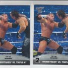 Undertaker & Triple H Silver Lot of 2 Top 10 Rivalries 2013 Topps Best of WWE #2
