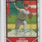 Jonathan Papelbon X-Fractor Parallel 2007 Bowman Chrome #6 Red Sox 227/250