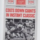 Colts Down Giants Instant Classic Headlines Insert 2014 Panini Golden Age #4