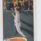 Luke Scott Baseball Card 2012 Topps Series 1 #107 Orioles