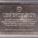 U.S.S. Excelsior NCC-2000 Gold Registry Plaque Skybox Star Trek 30 Years #R5