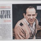 Yogi Berra Newsmakers Insert 2014 Golden Age #6 Yankees Catchy Quote