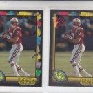 Hugh Miller Football Trading RC Card Lot (2) 1991 Wild Card #121 Patriots *BOB