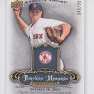 Jonathan Papelbon Timeless Moments 2008 UD Piece History #TMJP Red Sox 945/999