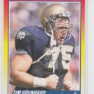 Tim Grunnard Rookie Card 1990 Score #646
