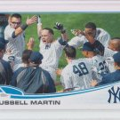 Russell Martin Baseball Trading Card 2013 Topps Series 1 #282 Yankees