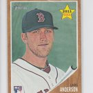 Lars Anderson Rookie Card 2011 Topps Heritage #244 Red Sox
