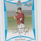 Rusty Ryal 1st Prospect Card 2008 Bowman #BP16 Diamondbacks