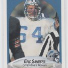 Eric Sanders Rookie Card 1990 Fleer #285 Lions