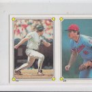 John Kruk & MIckey Hatcher 1987 Topps Sticker Softback #113-276 Twins Giants