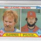 Dan Quisenberry & Bruce Sutter Leading Firemen 1983 Topps #708 Sharp!