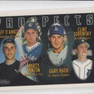 Jeff D'Amico Marty Janzen Gary Path Clint Sodowsky RC 1996 Topps #429