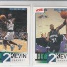 Kevin Garnett Fly 2 Kevin Lot (2) 2000-01 Upper Deck Victory #321 & #324