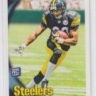 Emmanuel Sanders Rookie Card 2010 Topps #254 Steelers
