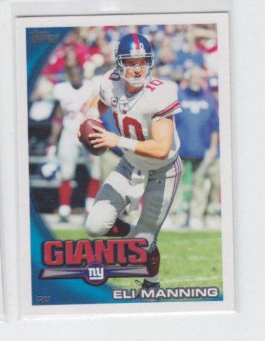Eli Manning Football Trading Card 2010 Topps #400 Giants