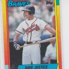 Dave Justice Rookie Card 1990 Topps Traded #48T Braves