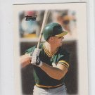 Mark McGwire MIni Major League Leaders 1988 Topps #31 Athletics