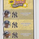 Don Mattingly Dave Winfield Reggie Jackson 2008 Upper Deck Heroes #190 Yankees