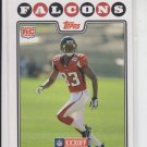 Harry Douglas Rookie Card 2008 Topps Kickoff #191 Falcons