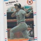 Cal Ripken Jr Baseball Trading Card 1988 Fleer #570 Orioles