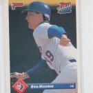 Rob Maurer Rookie Card 1993 Donruss #584 Rangers RR