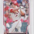 Shelby Miller Baseball Card 2014 Bowman #169 Cardinals x1