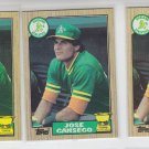 Jose Canseco 2nd Year Lot of (3) 1987 Topps #620 Athletics