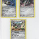 Ferrothorn Rare & Base & Ferroseed Lot x3 Pokemon Black & White Emerging Powers
